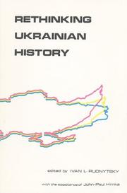 Cover of: Rethinking Ukrainian history