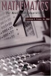Cover of: Mathematics for real estate appraisers