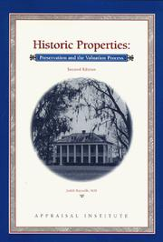 Cover of: Historic properties | Judith Reynolds