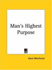 Cover of: Man's Highest Purpose