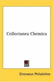 Cover of: Collectanea Chemica