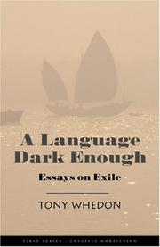 Cover of: A language dark enough | Tony Whedon