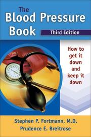 Cover of: The blood pressure book