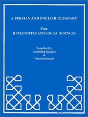 Cover of: A Persian-English / English-Persian Glossary for the Social Sciences