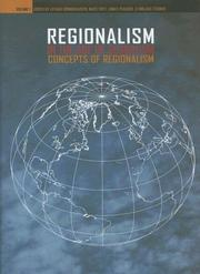 Cover of: Regionalism in the Age of Globalism, Volume 1 |