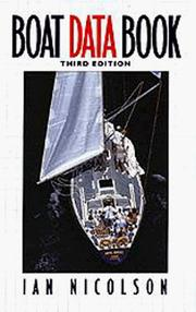 Cover of: Boat data book by Ian Nicolson