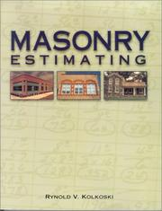 Cover of: Masonry estimating