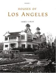 Cover of: Houses of Los Angeles, 1885-1919