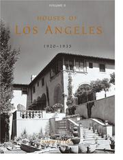 Cover of: Houses of Los Angeles, 1920-1935