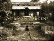 Cover of: American Gardens, 1890-1930