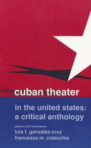 Cover of: Cuban Theater in the United States