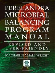 Cover of: Perelandra Microbial Balancing Program Manual