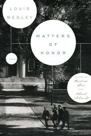 Cover of: Matters of Honor