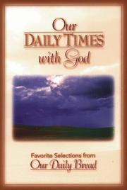 Cover of: Our Daily Times With God