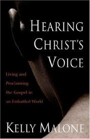 Cover of: Hearing Christ's Voice