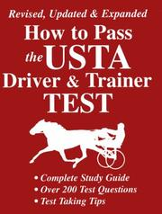 Cover of: How to Pass the Usta Driver and Trainer Test