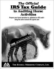 Cover of: The Official IRS Tax Guide to Auditing Horse Activities
