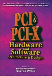 Cover of: PCI & PCI-X Hardware and Software