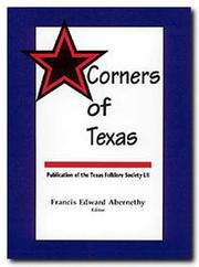 Cover of: Corners of Texas