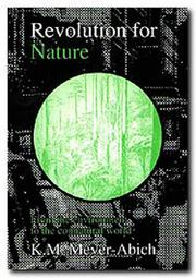 Cover of: Revolution for Nature
