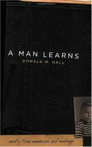 Cover of: A Man Learns
