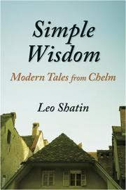 Cover of: Simple Wisdom; Modern Tales from Chelm