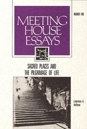 Cover of: Sacred Places and the Pilgrimage of Life (Meeting House Essays : Architecture and Art for Liturgy Series, No 1)