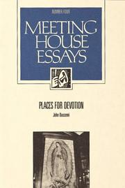 Cover of: Places for Devotion (Meeting House Essays Series, No 4)