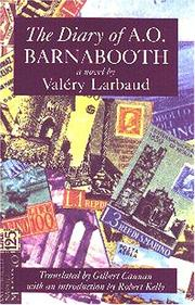 Cover of: The Diary of A.O. Barnabooth (Recovered Classics) (Recovered Classics)