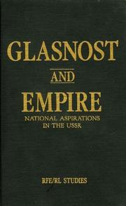 Cover of: Glasnost and Empire