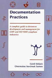 Cover of: Documentation practices