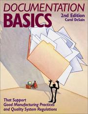 Cover of: Documentation basics