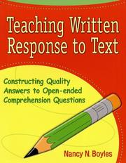 Cover of: Teaching Written Response to Text