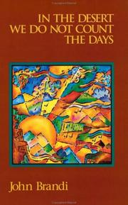 Cover of: In the desert we do not count the days