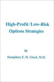 Cover of: High Profit, Low Risk Options Strategies