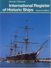 Cover of: International Register of Historic Ships (3rd ed) | Norman J. Brouwer