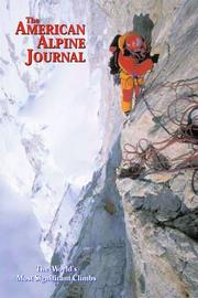 Cover of: The American Alpine Journal