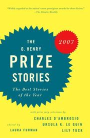 Cover of: The O. Henry Prize Stories 2007 (Prize Stories (O Henry Awards)) | Laura Furman