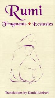Cover of: Rumi: Fragments, Ecstasies