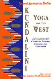 Cover of: Kundalini yoga for the west