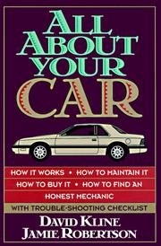 Cover of: All aboutyourcar