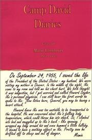 Cover of: Mamie Eisenhower, 1953-1961 (Camp David Diaries, Volume III)