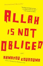 Cover of: Allah is Not Obliged | Ahmadou Kourouma