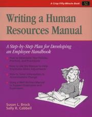 Cover of: Writing a human resources manual | Susan L. Brock