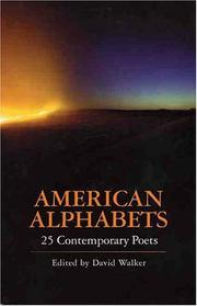 Cover of: American Alphabets | David Harry Walker