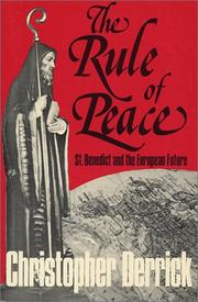 Cover of: Rule of Peace  | Christopher Derrick