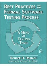 Cover of: Best Practices for the Formal Software Testing Process by Rodger D. Drabick