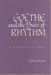 Cover of: Goethe and the Power of Rhythm