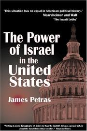 Cover of: The Power of Israel in the United States