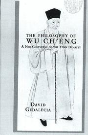 Cover of: The philosophy of Wu Chʻeng
